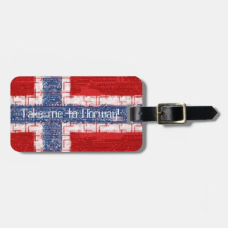 Norwegian Motherboard Theme Luggage Tag