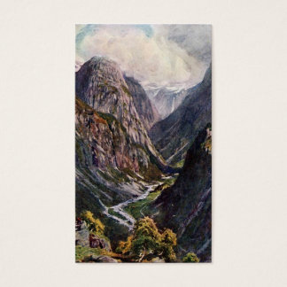 Norwegian mountain pass business card
