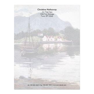 Norwegian nature getaway personalized letterhead