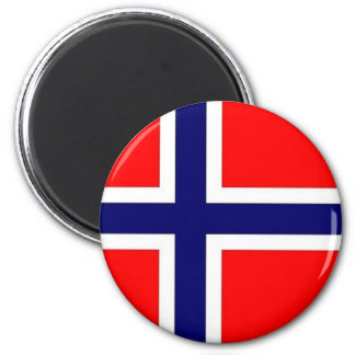 Norwegian Pride 2 Inch Round Magnet