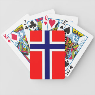 Norwegian Pride Bicycle Playing Cards