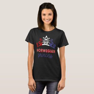 Norwegian Princess Tiara National Flag T-Shirt