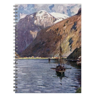 Norwegian river and mountains notebook