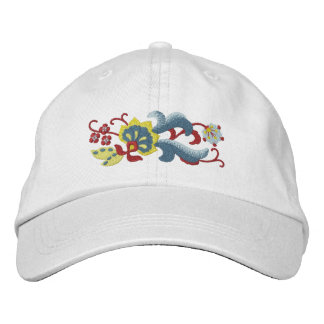 Norwegian Rosemaling Scroll Embroidered Hat