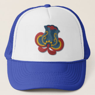 Norwegian Rosemaling Tulip Trucker Hat