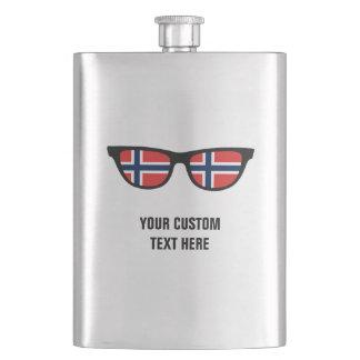 Norwegian Shades custom flask