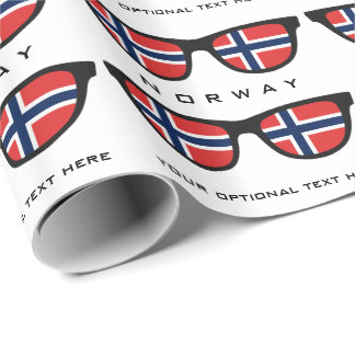 Norwegian Shades custom text & color gift wrap