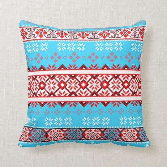 Norwegian Snow Flake Throw Pillow