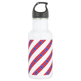 Norwegian stripes flag 532 ml water bottle