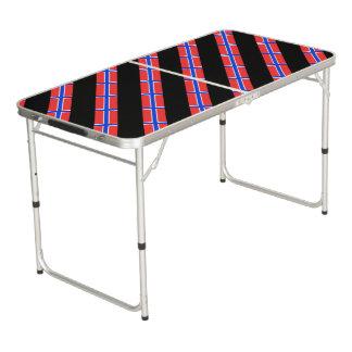 Norwegian stripes flag beer pong table