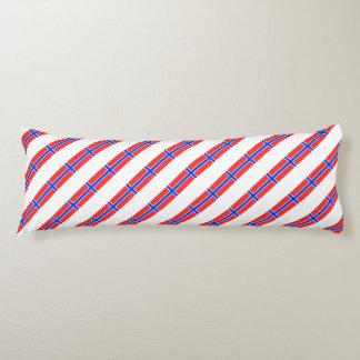 Norwegian stripes flag body pillow