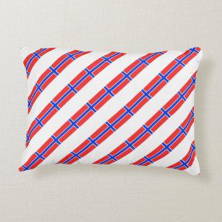 Norwegian stripes flag decorative pillow