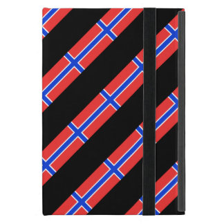 Norwegian stripes flag iPad mini case