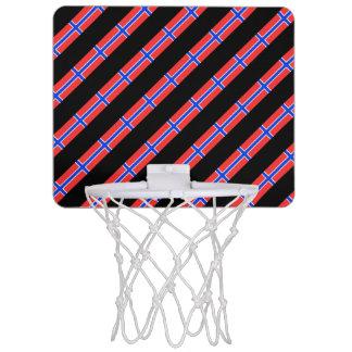 Norwegian stripes flag mini basketball hoop