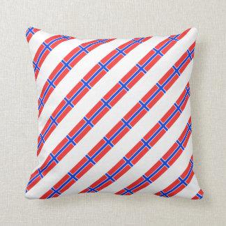 Norwegian stripes flag throw pillow