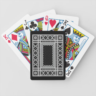 Norwegian Style Knit Ornaments Bicycle Playing Cards