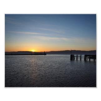 Norwegian summer sunset poster