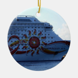 Norwegian Sun Ceramic Ornament