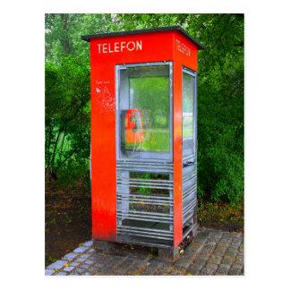 Norwegian Telephone Booth Postcard