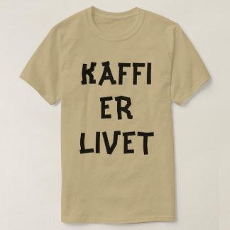 Norwegian text Coffee is life  in Norwegian T-Shirt