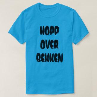 Norwegian text Jump over the stream  in Norwegian T-Shirt