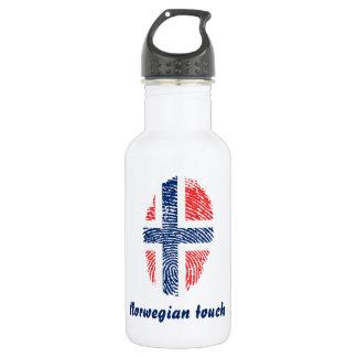 Norwegian touch fingerprint flag 532 ml water bottle