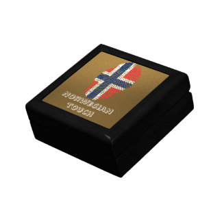 Norwegian touch fingerprint flag keepsake box