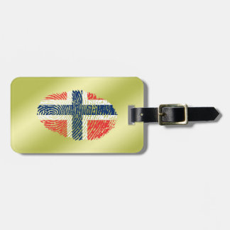 Norwegian touch fingerprint flag luggage tag