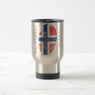 Norwegian touch fingerprint flag travel mug
