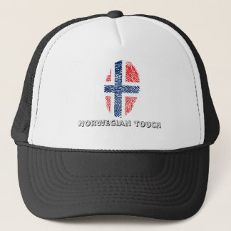 Norwegian touch fingerprint flag trucker hat