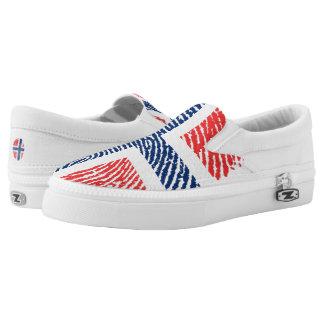 Norwegian touch fingerprint pattern Slip-On sneakers