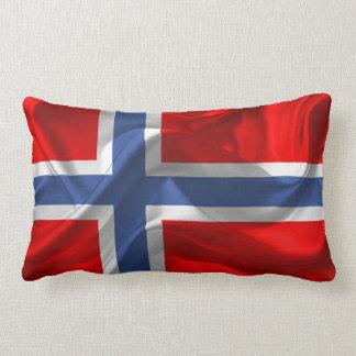 Norwegian waving flag lumbar pillow