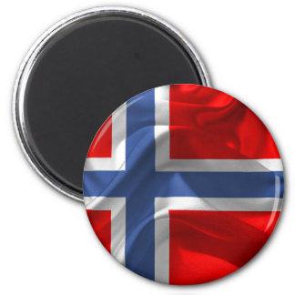 Norwegian waving flag magnet