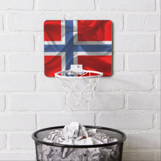 Norwegian waving flag mini basketball backboard