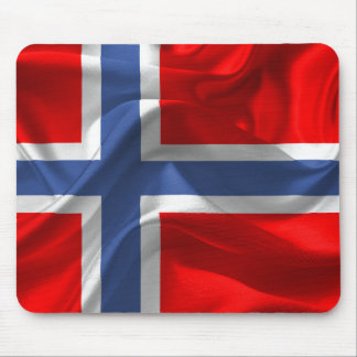 Norwegian waving flag mouse pad