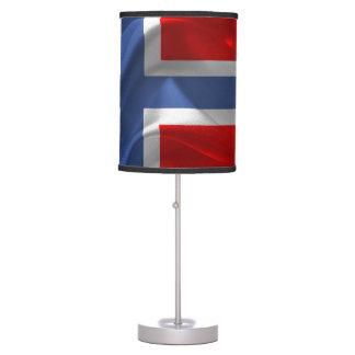 Norwegian waving flag table lamp
