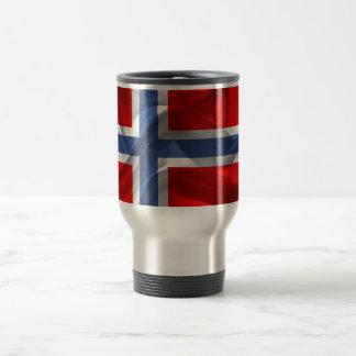 Norwegian waving flag travel mug