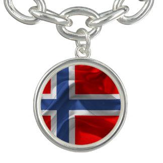 Norwegian wavy flag bracelets