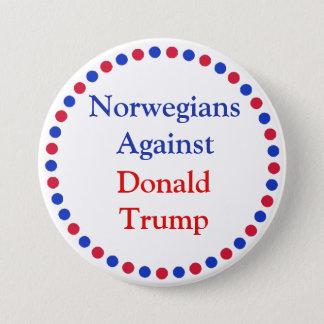 Norwegians Against Donald Trump Button