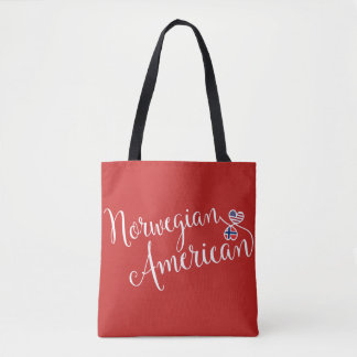 Norwewgian American Entwined Hearts Grocery Bag