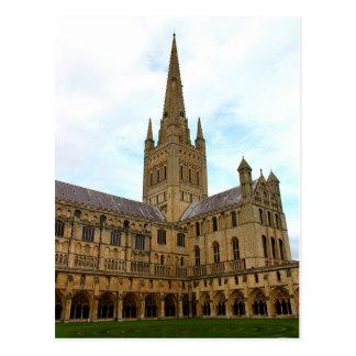 Norwich Cathedral Norfolk. Postcard