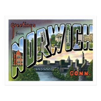 Norwich Connecticut Travel America US City Postcard