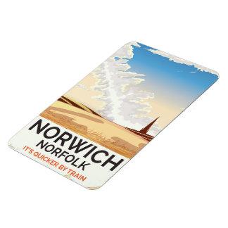 Norwich, Norfolk vintage style rail travel poster Magnet