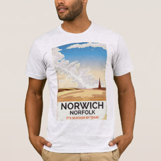 Norwich, Norfolk vintage style rail travel poster T-Shirt
