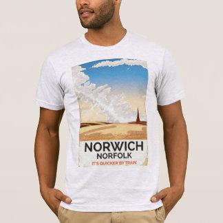 Norwich, Norfolk vintage style rail travel poster T-Shirt
