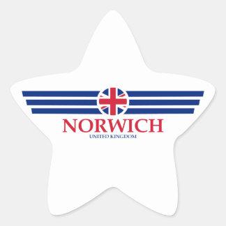 Norwich Star Sticker
