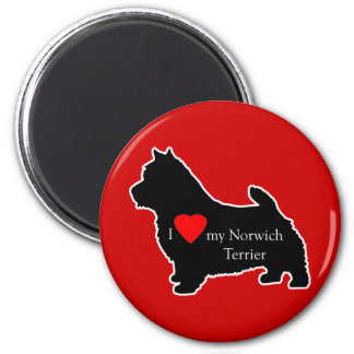 Norwich Terrier 2 Inch Round Magnet