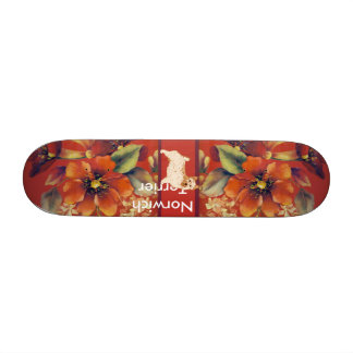 Norwich Terrier - Autumn Flower Design Skate Board