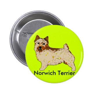 Norwich Terrier - Body left 2 Inch Round Button