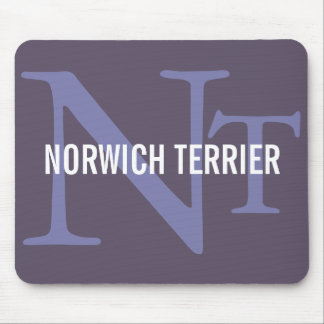 Norwich Terrier Breed Monogram Mouse Pad